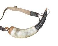 svart horn isolerad pulvertappning Arkivbilder