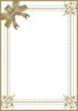 Svart inbjudankort för artikel med ensamrätt Royaltyfri Foto