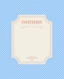 Svart inbjudankort för artikel med ensamrätt Royaltyfri Bild