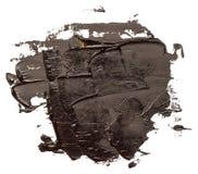 Svart isolerad oljaslaglängdmålarfärg royaltyfri bild
