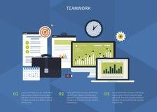 svart isolerad teamwork för begrepp 3d illustration Stock Illustrationer