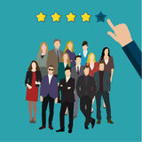 svart isolerad teamwork för begrepp 3d illustration Royaltyfri Fotografi