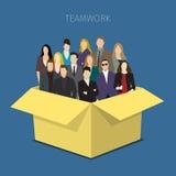 svart isolerad teamwork för begrepp 3d illustration Royaltyfri Bild