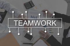 svart isolerad teamwork för begrepp 3d illustration Arkivbilder