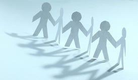 svart isolerad teamwork för begrepp 3d illustration stå för män för lag pappers- Arkivbilder