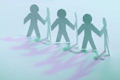svart isolerad teamwork för begrepp 3d illustration stå för män för lag pappers- Royaltyfri Bild