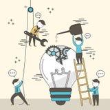 svart isolerad teamwork för begrepp 3d illustration Arkivbild
