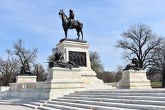 Svart järnskulptur av Ulysses Simpson Grand nära Kapitolium i Washington D C i USA royaltyfria foton