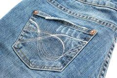 Svart jeans Royaltyfri Fotografi