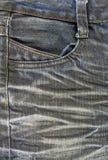 Svart jeanstextur Arkivbild