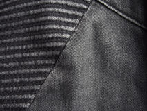 svart jeanstextur Royaltyfri Bild