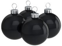svart jul hög res för bollar Arkivfoto