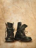 svart kängaöverkant Royaltyfri Foto