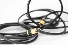 svart kabel Arkivbild