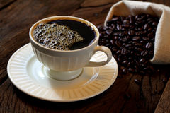 Svart kaffe. Arkivbild