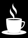 svart kaffe Arkivbild