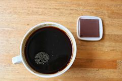 svart kaffe Fotografering för Bildbyråer
