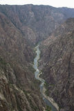 Svart kanjon av den Gunnison nationalparken, nära Montrose, Colorado, USA Arkivbilder