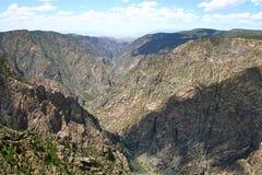 Svart kanjon av Gunnisonen Arkivfoton
