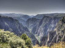 Svart kanjon av Gunnisonen i Colorado Royaltyfri Bild