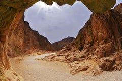 svart kanjon dramatiska israel Royaltyfria Foton