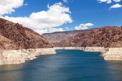 svart kanjon minskat level vatten Royaltyfria Bilder