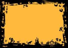 svart kant halloween Royaltyfri Fotografi