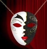 svart karnevalmaskeringswhite Arkivbild