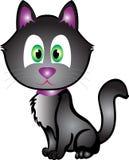 svart katt halloween Arkivbilder