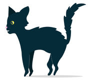 svart kattillustration Arkivbilder