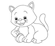 svart kattwhite Arkivbild