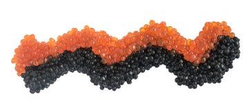 Svart kaviar som isoleras på vit bakgrund fotografering för bildbyråer