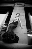 svart klänning Royaltyfria Bilder