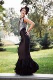 svart klänning Arkivfoton