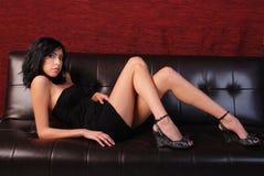svart klänning little Royaltyfri Fotografi