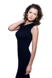 svart klänningsensualitykvinna Arkivbilder