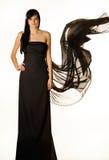 svart klänning Arkivfoto
