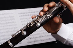 svart klarinett Royaltyfria Bilder