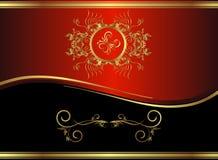 svart klassiskt guld- för backround Arkivbild