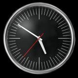 svart klocka Arkivfoton