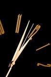 svart klockavägg Royaltyfria Foton