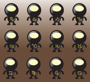 svart klotterhoroskop Royaltyfria Foton