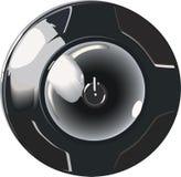 svart knapp Arkivbild