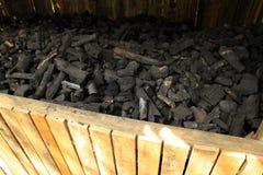 svart kol Royaltyfri Fotografi