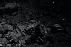 svart kolstapeltextur Royaltyfri Fotografi