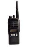 svart kompakt bärbar professional radioset Arkivbild