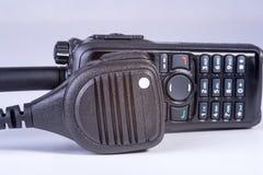 svart kompakt bärbar professional radioset Royaltyfri Fotografi