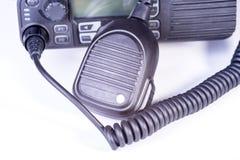 svart kompakt bärbar professional radioset Arkivfoton