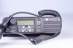 svart kompakt bärbar professional radioset Arkivbilder