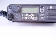 svart kompakt bärbar professional radioset Arkivfoto
